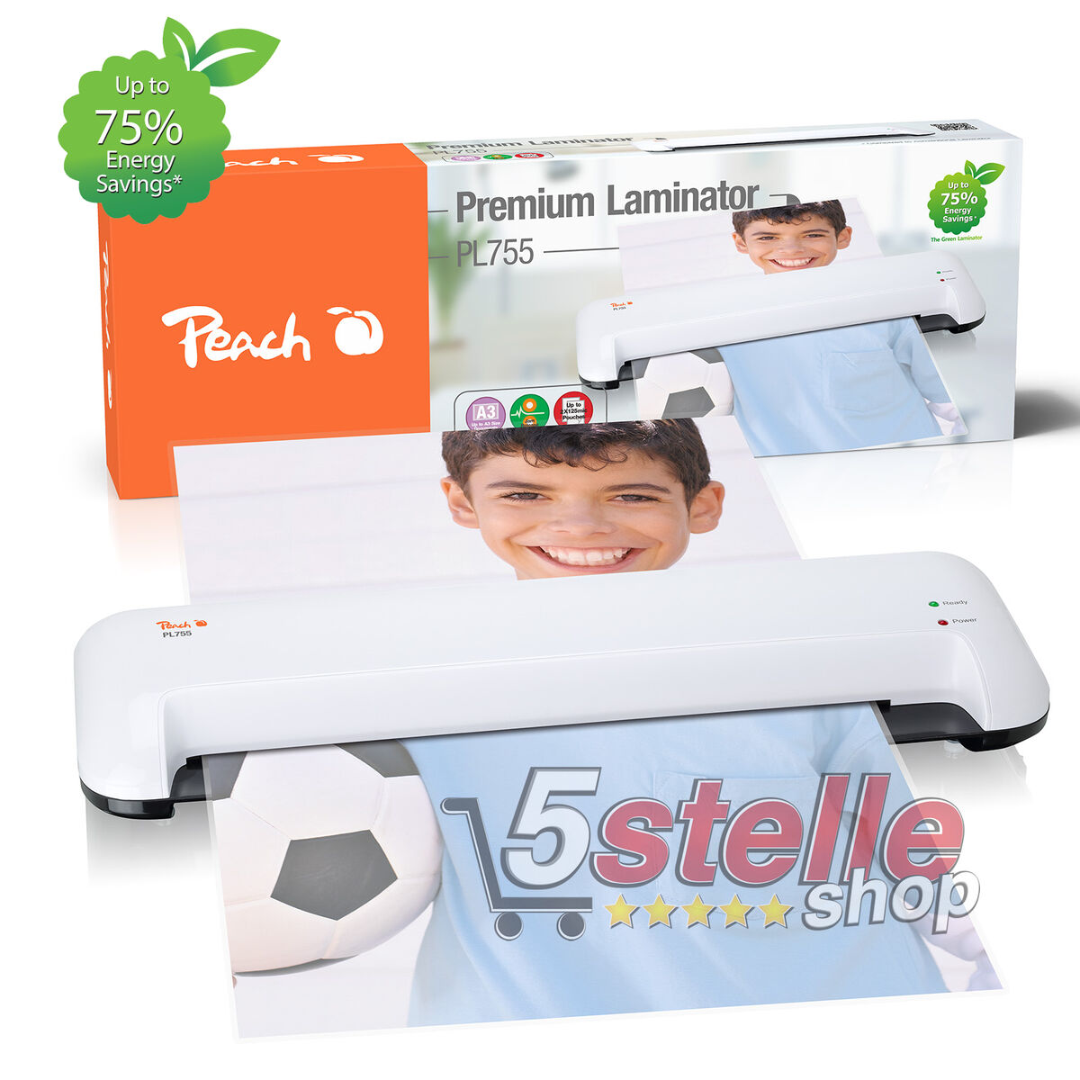 Plastificatrice a caldo a3 peach pl755 kit pouches fogli carta documenti foto 