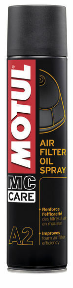 Motul a2 air filter oil spray olio spray x filtri aria spugna moto enduro 400ml 