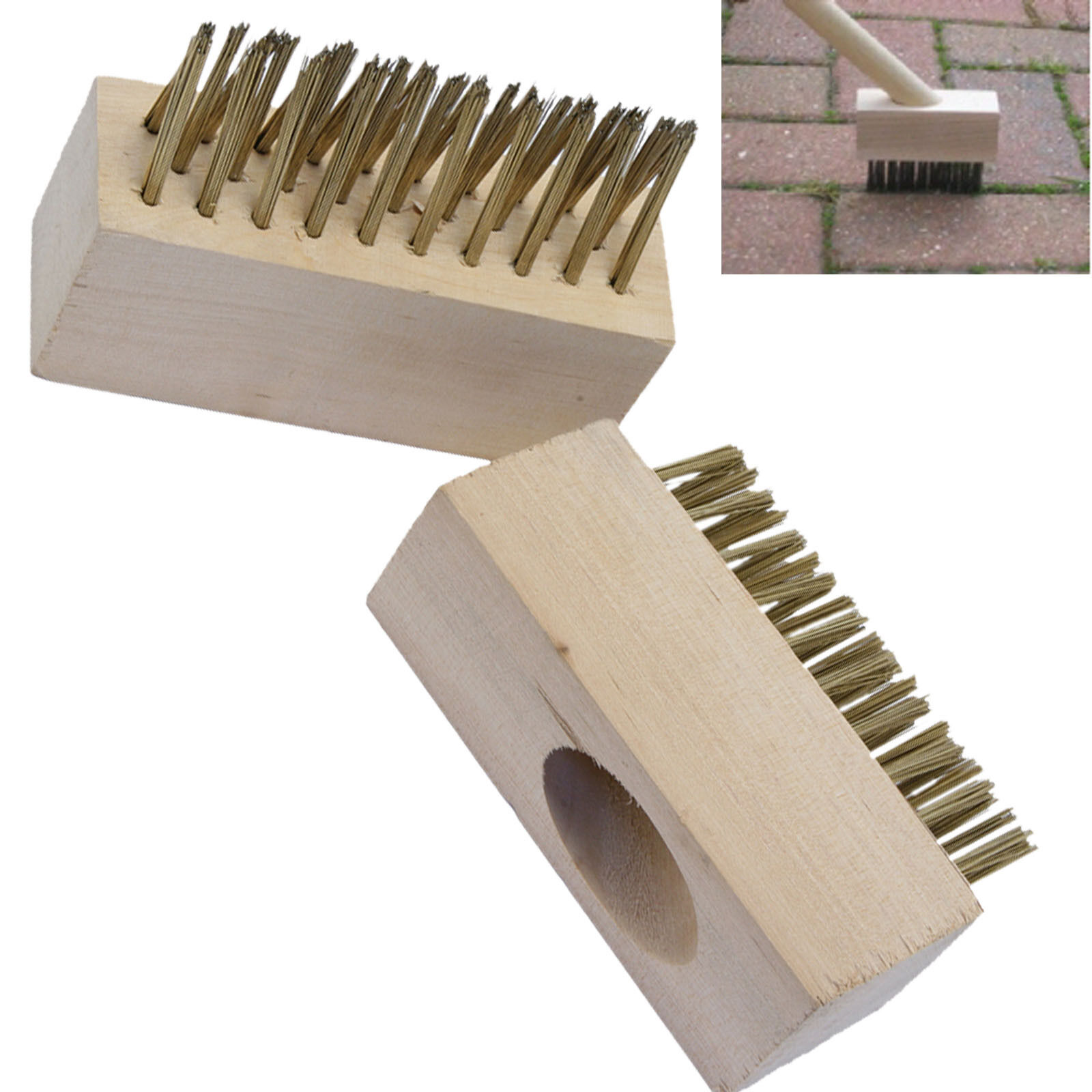 Block Paving Wire Brush Heads Patio Grout Gap Cleaning