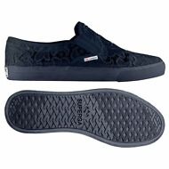 SUPERGA SLIP on DONNA Mocassino Pizzo macrame blu 2311 MACRAMEW NEW Moda 081bqay