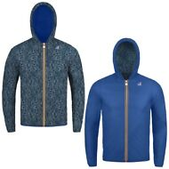 K-WAY reverse giacca BAMBINO CAPPUCCIO JACQUES PLUS DOUBLE GRAPHIC KWAY 980ipmrz