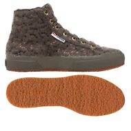 SUPERGA 2795 Scarpe DONNA MICROPILE Alt.media Aut/Inv paillettes MARRONE NEW WJB