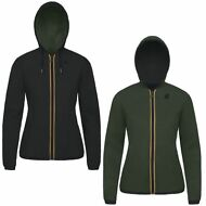 K-WAY giacca reverse DONNA leggera CAPPUCCIO KWAY LILY KL AIR DOUBLE PELLE 947fp