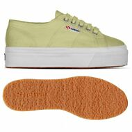 SUPERGA 2790 ZEPPA Scarpe DONNA 4cm ACOTW UP AND DOWN verde Mela Moda C28ahfs