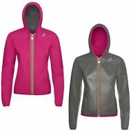 K-WAY GIACCA BAMBINA IMPERMEABILE DOUBLE Cappuccio LILY PLUS FLUO NEW KWAY 902yd