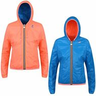 K-WAY LILY PLUS DOUBLE FLUO giacca BAMBINA IMPERMEABILE Cappuccio NEW KWAY G43dm