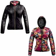 K-WAY GIACCA IMBOTTITA DONNA VERA PELLE LILY KL AIR PADDED DOUBLE KWAY New 913kb