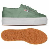 SUPERGA 2790 ZEPPA SCARPE DONNA 4cm ACOTW UP AND DOWN Verde Malachite News WF1gp