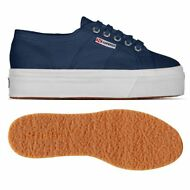 SUPERGA 2790 zeppa scarpe DONNA 4cm Acotw UP AND DOWN Blu prv/est Negozio X1Yoft
