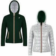 K-WAY Imbottita reverse giacca DONNA CAPPUCCIO LILY THERMO PLUS DOUBLE KWAY 986l