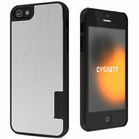For iPhone 5, 5S, Cygnett UrbanShield Brushed Aluminum Case w/ Screen Protector