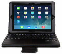 Black Portfolio Case with REMOVABLE Bluetooth 3.0 Keyboard for the iPad Air