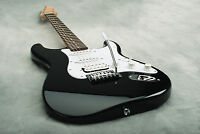 FENDER SQUIER BULLET STRAT BLACK STRATOCASTER ELECTRIC GUITAR ~ NEW