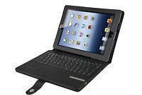 Black Portfolio Case with REMOVABLE Bluetooth Keyboard for the iPad 2/3/4