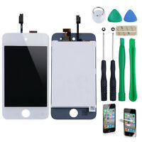 For iPod Touch 4 White Gen LCD Screen Assembly Touch Digitizer Glass + Free TO