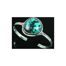 Turquoise & 925 Sterling Silver Bangle Bracelet