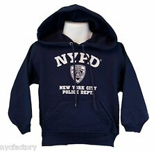 NYPD Hoodie Sweatshirt New York Police Navy Blue S-XXL