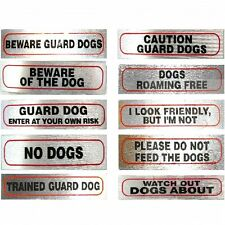 Dog Signs for Dog Owners stick on 17cm x 4cm Great Choice