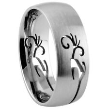 316L Stainless Steel Ring w/ Cut-out Design - Sz. 9-12