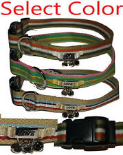 Too! Charming Designer Stripes Adjustable Comfortable Cotton Dog Collar