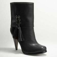 COACH Legra Black Leather Ankle Boots MULTIPLE SIZES!!