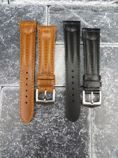 20mm VICTORINOX SWISS ARMY CAVALRY LEATHER STRAP Watch BAND Brown Black 20 mm