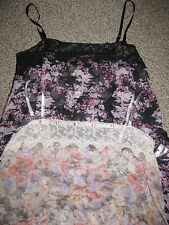 NEW! FREE PEOPLE Gorgeous Chiffon Recollections TIERED RUFFLE SLIP DRESS XS S L