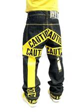DIRTY MONEY JEANS, CAUTION TIME IS MONEY JEANS URBAN HIP HOP NAPPY ROCK BAGGY
