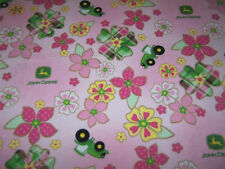 John Deere Fleece Fabric Blankets - Various Sizes