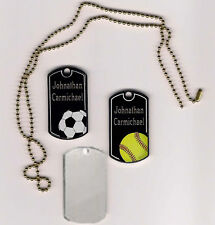 Black Beauty Engraved Sports ID Tags - Dog Tags - Great Gift