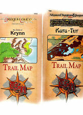 TSR DUNGEONS & DRAGONS TRAIL MAPS TM 1-5 MULTILISTING