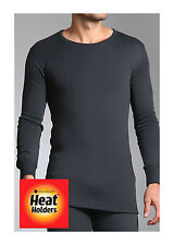 Mens Genuine Heat Holders Thermal Long Sleeved Vest Top Charcoal Grey all sizes