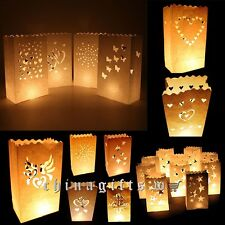 Hot Sales Retro Style White Paper Candle Lantern Bags Wedding Party Favor