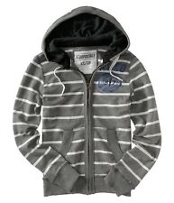 Aeropostale mens AERO Striped zip hoodie jacket XL,2XL