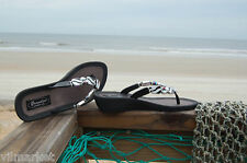 Grandco Black & White Zebra Sandal with Glitzy Crystal
