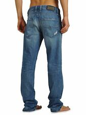 NWT DIESEL Brand Mens Relaxed Straight Jeans LARKEE 8MX Vintage Blue