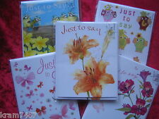 Pack of 4 Just to Say Cards Noel Tatt Great Choice LOOK