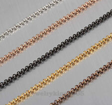 """New 2mm Exquisite Stainless Steel """"Mini-Anchor"""" Chain Necklace Length 16"""" to 40"""""""