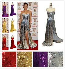 Hollywood Sequin Sexy Elegant Slit Evening Gown Prom Cocktail Halloween Dress