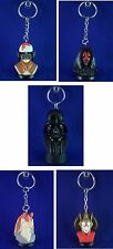STAR WARS LUCAS FILMS NEW MINI BUST KEY CHAIN BACKPACK ZIPPER PULLS YOU PICK ONE