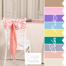 10 pieces Wedding Party Banquet 6x108inch Satin Chair Cover Sash Bow COLORS