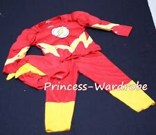 XMAS Christmas Gift Muscle Flash Hero Outfit Boy Kid Party Costume Present 2-7Y