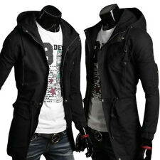 BIG DISCOUNT Men's Casual Slim fit Long Trench Coat Outerwear Jacket Hoodies New