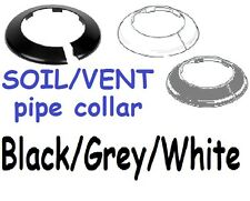 NEW Plastic/metal Soil vent stack pipe collar 110mm ID 170mm OD,grey/black/white