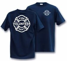 VOLUNTEER maltese FIREFIGHTER T-Shirt  *** SELECT YOUR SIZE ***