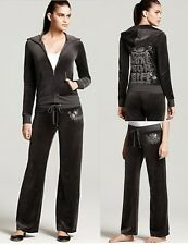 JUICY COUTURE LUXE FOR LIFE TOP HAT VELOUR TRACKSUIT SET JACKET, HOODIE PANTS
