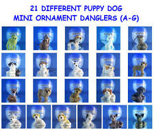21 NEW DIFFERENT PUPPY DOG PUPPIES (A-G) ORNAMENT CELL PHONE DANGLERS YOU PICK