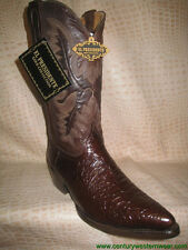 New Mens Embossed Chocolate Leather Sea Turtle (Caguama) Western Cowboy Boots
