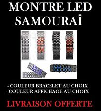 MONTRE WATCH BAND LED BRACELET ACIER DESIGN SAMOURAI LAVA COULEUR ICE