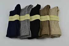 Scottish Cashmere Mens Socks. Black, Navy, Grey, Brown, Beige 7 8 9 10 11 12